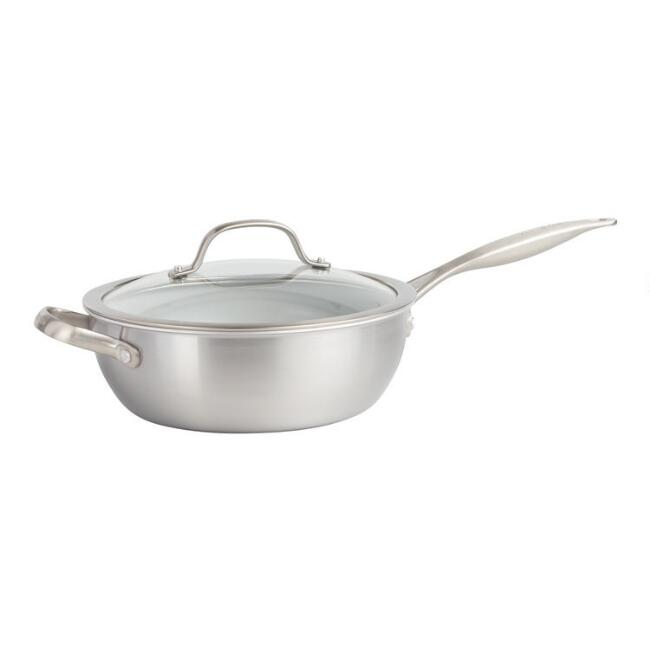 3 Quart GreenPan Venice Pro Nonstick Ceramic Chef's Pan