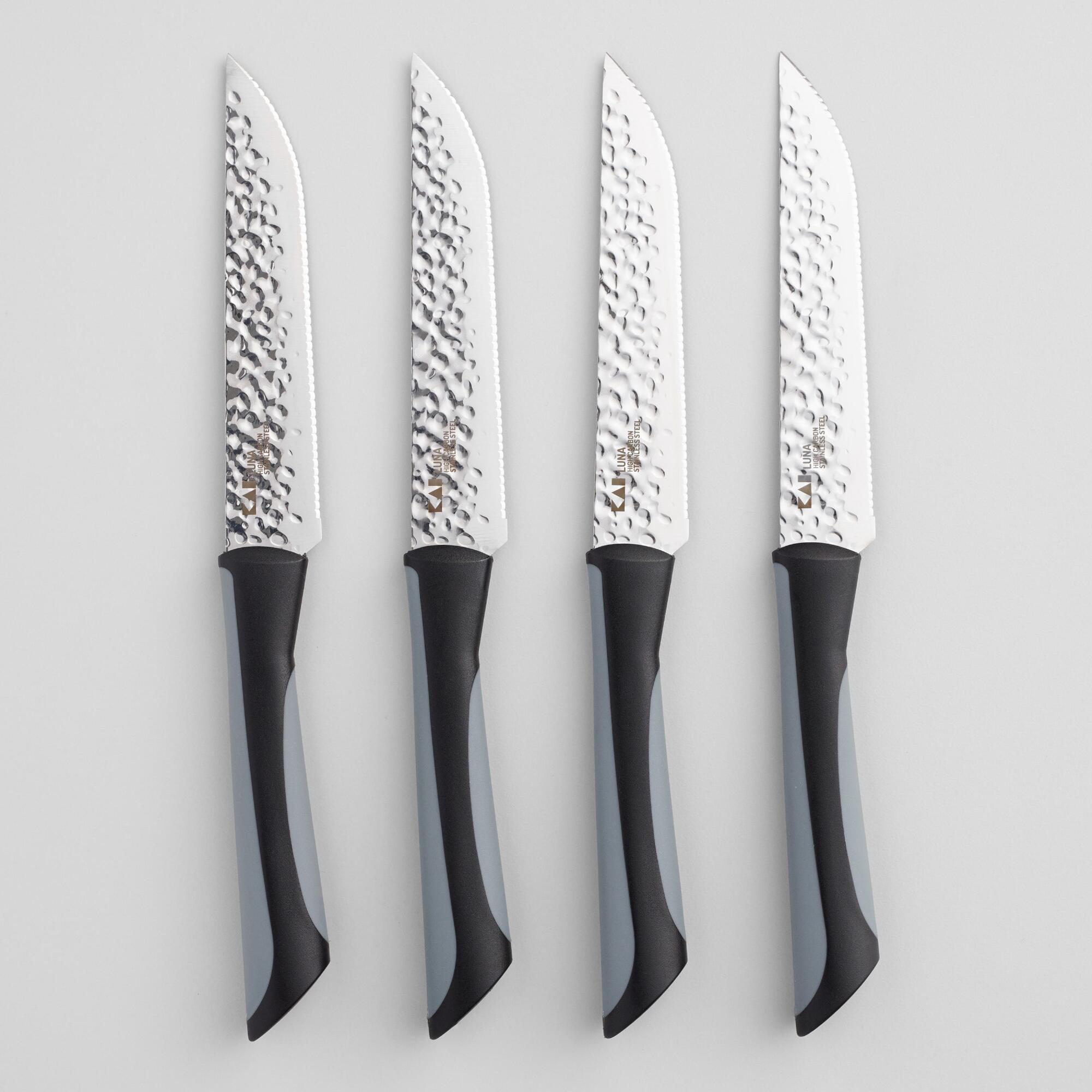 Kai Luna High Carbon Steel Steak Knives 4 Piece Set by World Market
