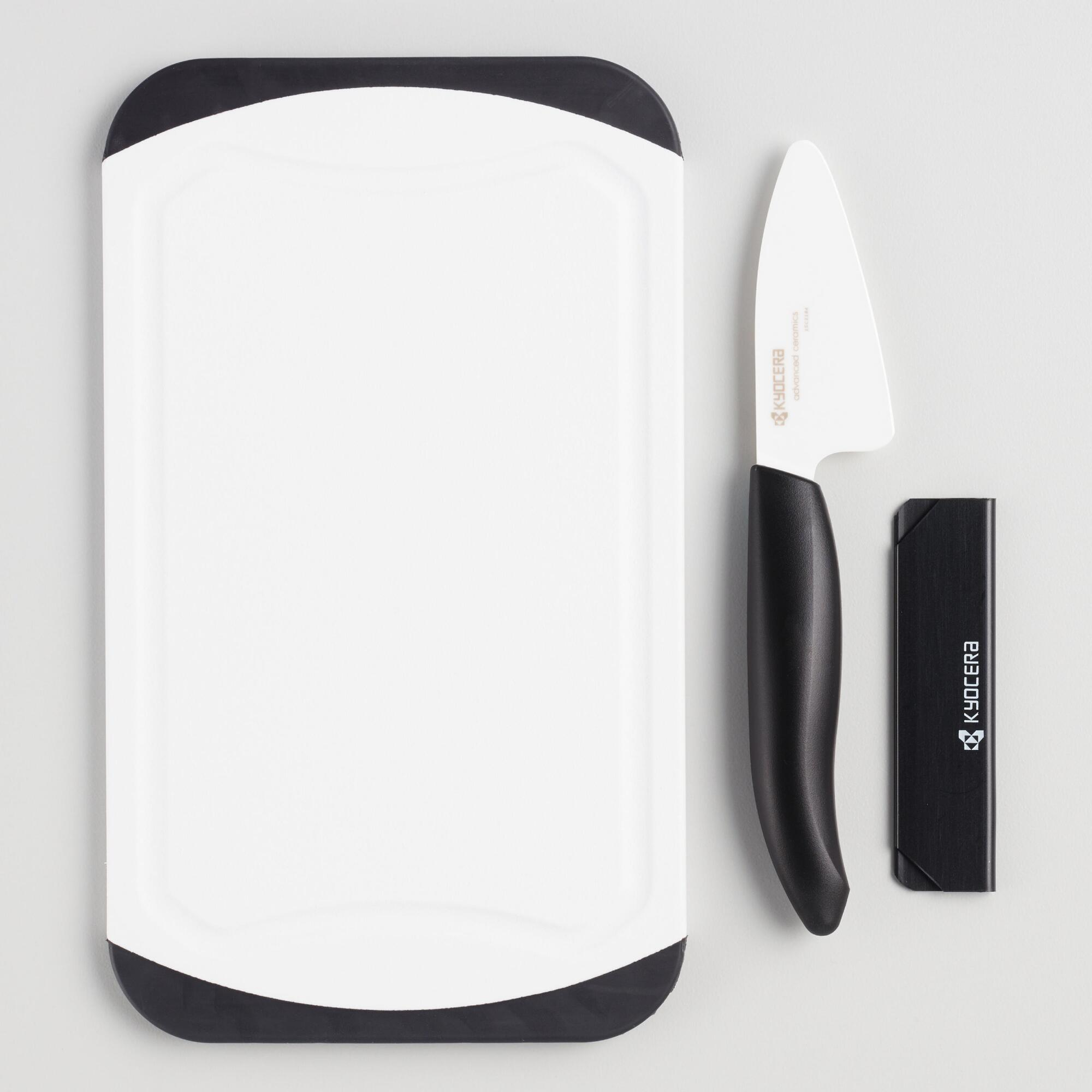 Kyocera Ceramic Mini Prep Knife and Cutting Board Set by World Market