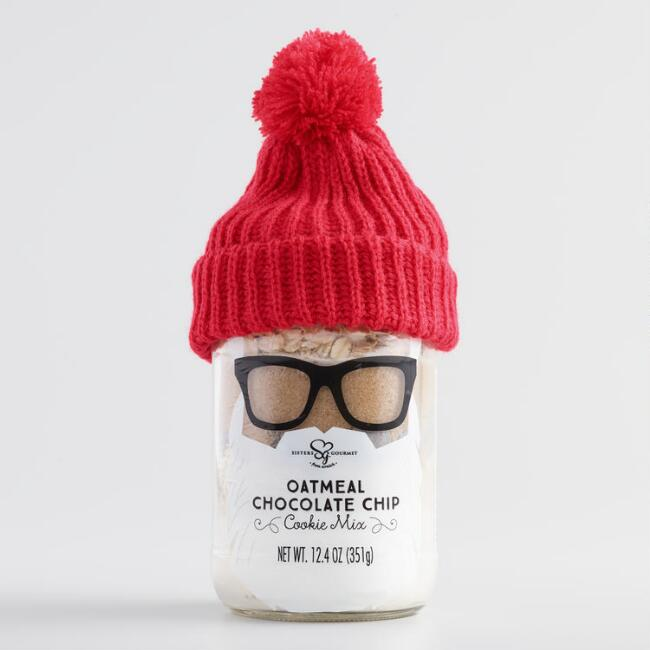 Hipster Santa Oatmeal Chocolate Chip Cookie Kit