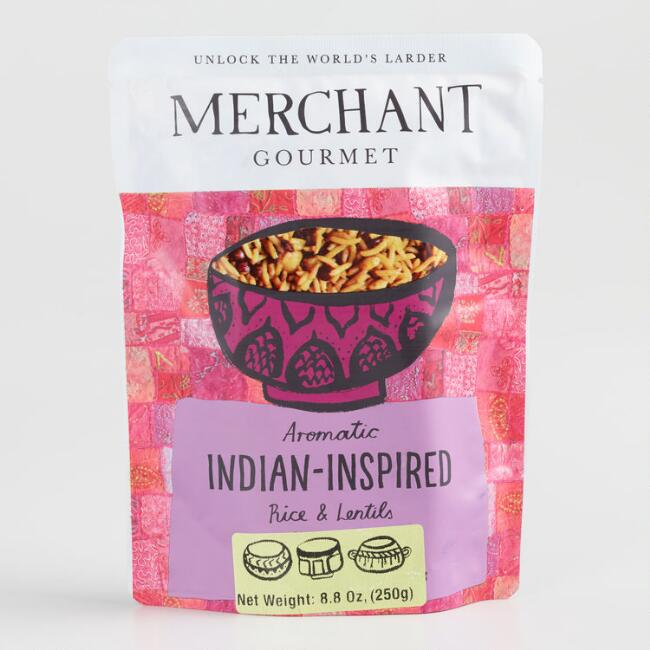 Merchant Gourmet Indian Inspired Rice and Lentils Set of 6