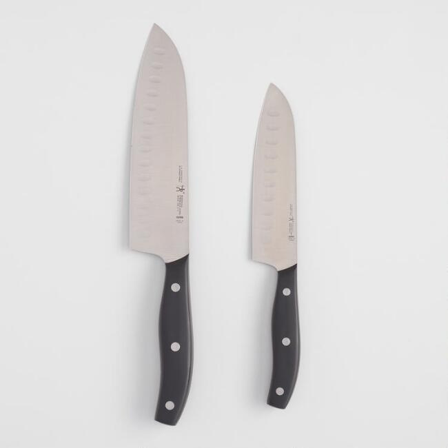J.A. Henckels Definition Asian Santoku Knives 2 Piece Set