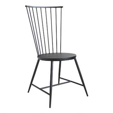 Black Steel Neal Dining Chair