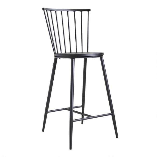 Brilliant Black Steel Neal Counter Stool Uwap Interior Chair Design Uwaporg