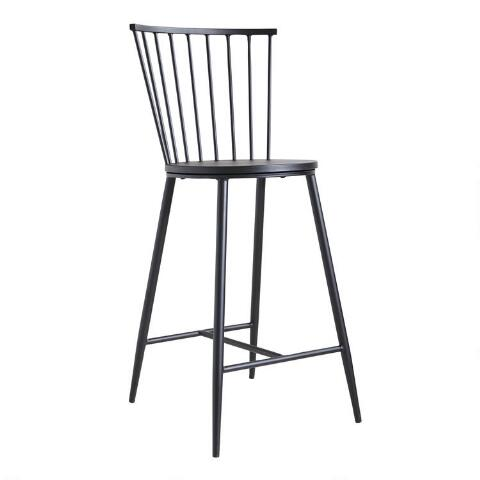 Black Steel Neal Counter Stool World