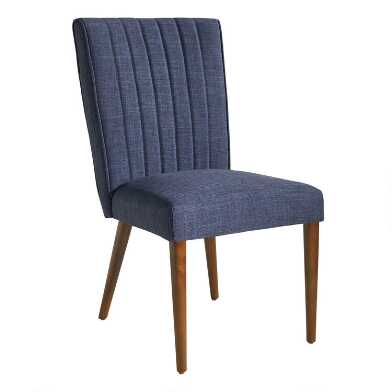 Navy Blue Holly Upholstered Dining Chair