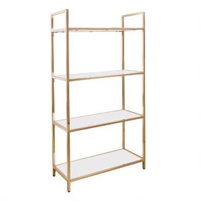 White and Gold Reid Bookshelf