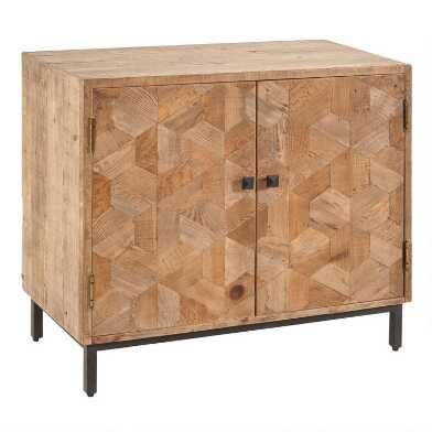 Reclaimed Pine and Metal Anders Storage Cabinet