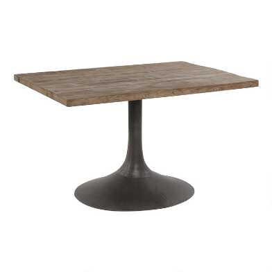 Reclaimed Pine and Metal Gibson Dining Table