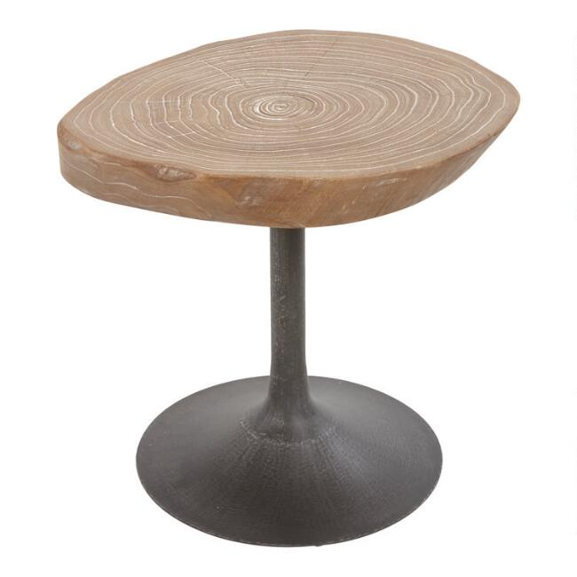 Small Elm Burl Poppy Accent Table