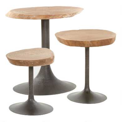 Elm Burl Poppy Accent Table Collection