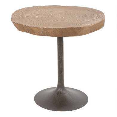 Medium Elm Burl Poppy Accent Table