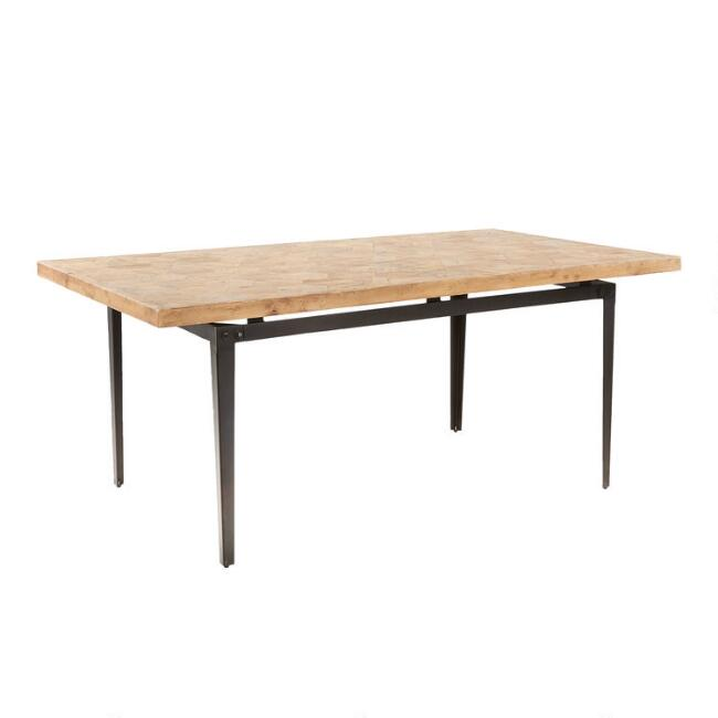 Reclaimed Pine and Metal Anders Dining Table