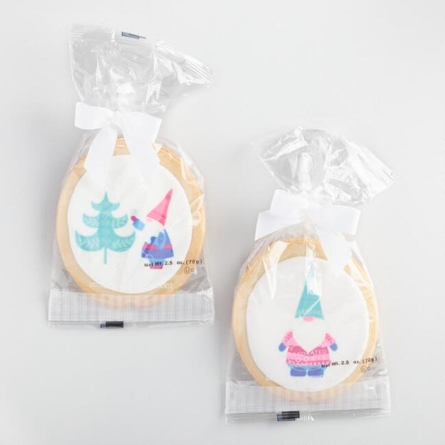 Decorated Holiday Sugar Cookies Set of 2