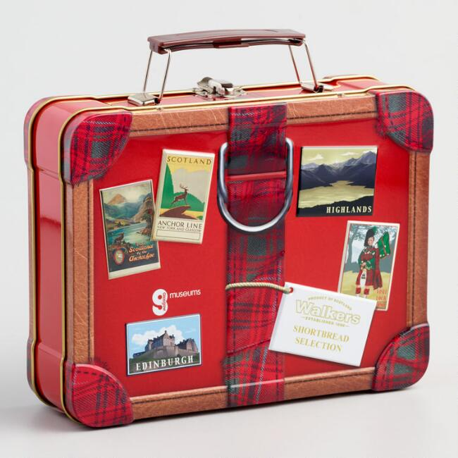 Walkers Shortbread Selection Suitcase Cookie Tin