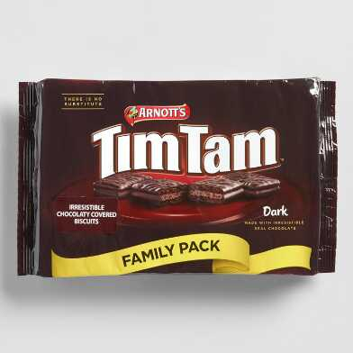Arnott's Tim Tam Dark Chocolate Cookies Family Size Set of 4