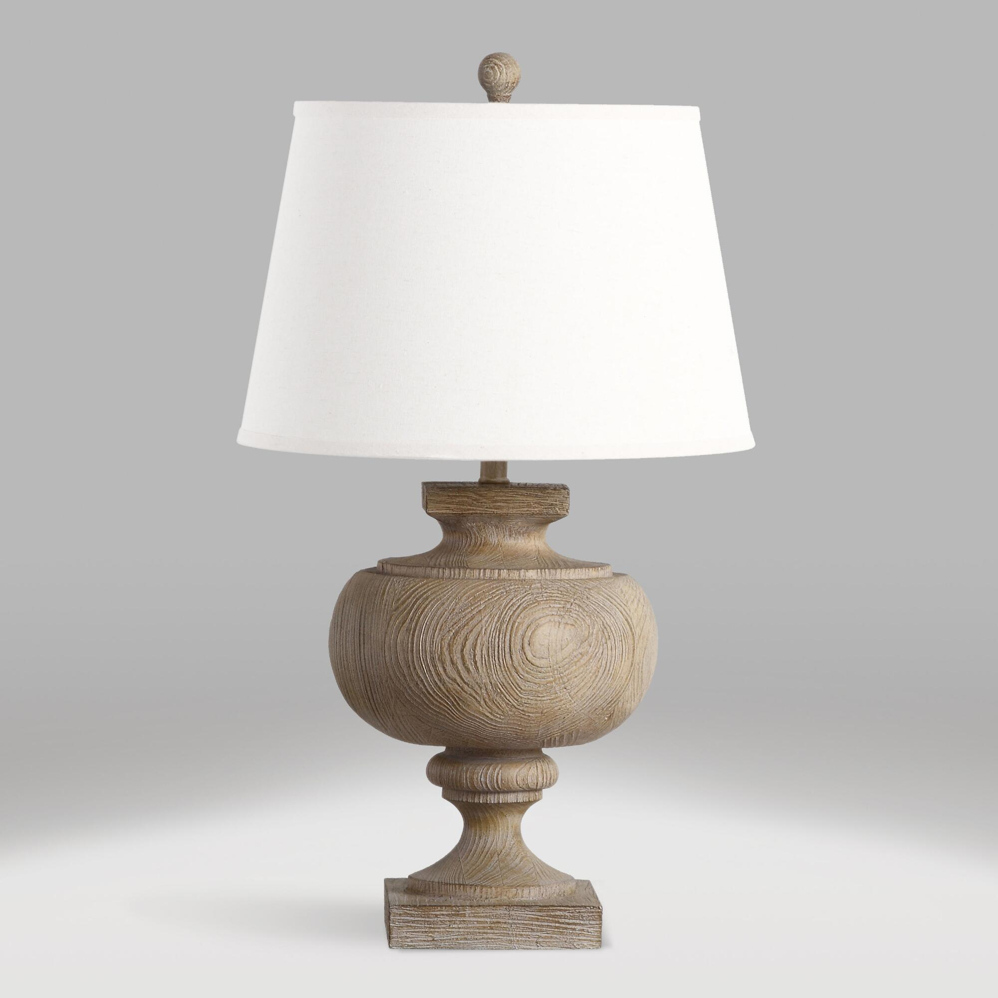 Oatmeal Chiara Table Lamp and Shade Set by World Market