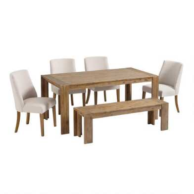 Natural Wood Finn Dining Collection
