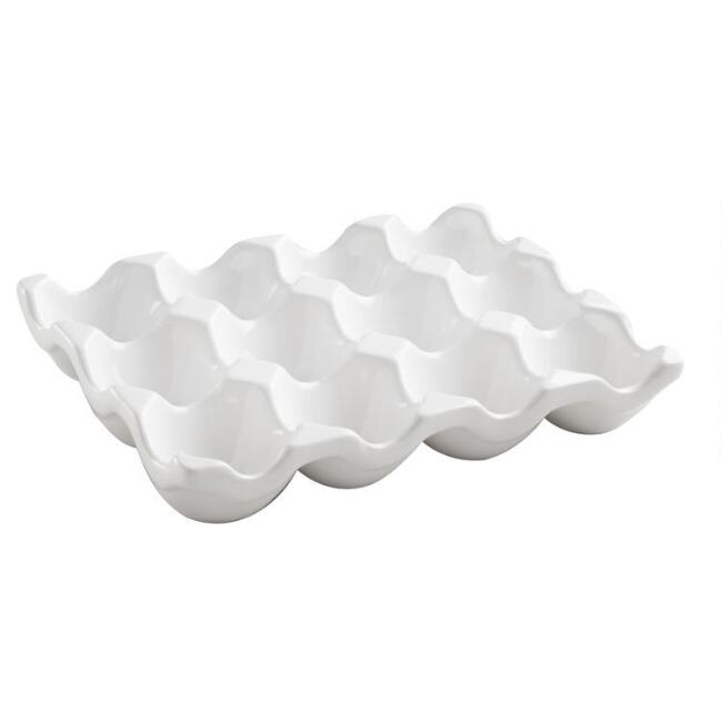 White Ceramic Egg Crate