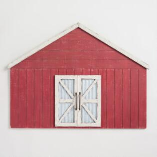 Red Wood Barn Wall Art