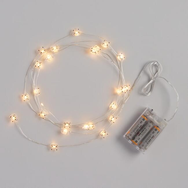 White Cat Micro LED 25 Bulb String Lights
