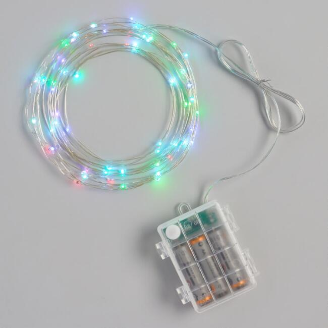 Color Changing LED 60 Bulb Battery Operated String Lights