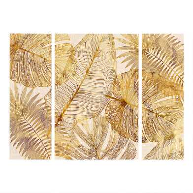 Island Golds Triptych Canvas Wall Art 3 Piece