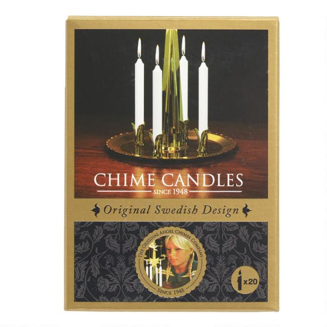 Gold Metal Angel Chime Replacement Candles 20 Pack