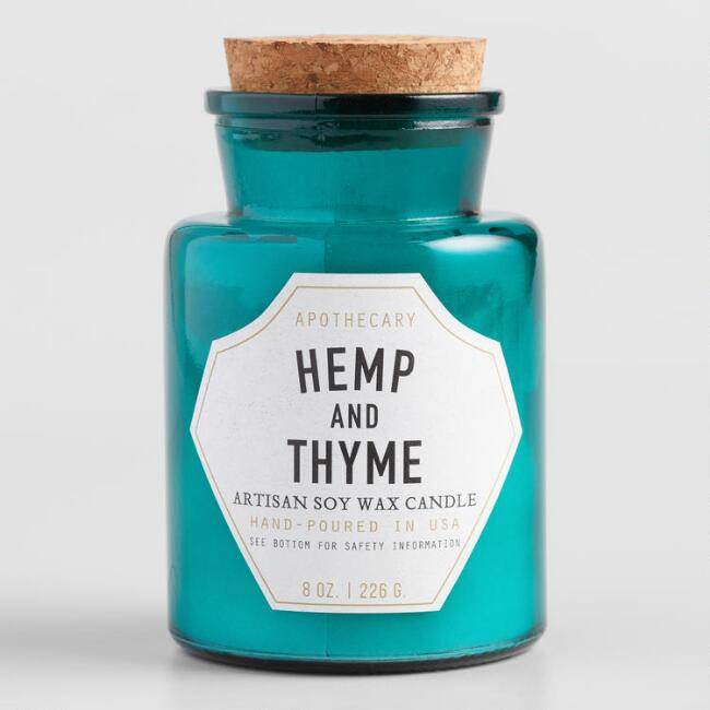 Paddywax Hemp and Thyme Old Fashioned Filled Candle