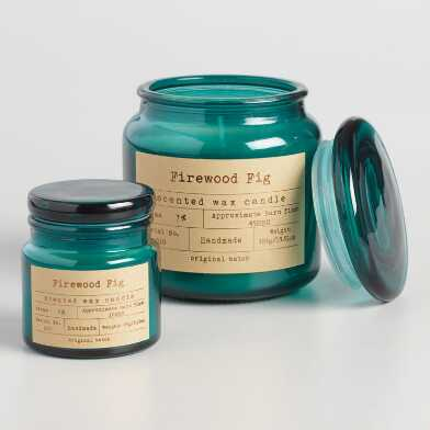Firewood Fig Apothecary Filled Jar Candle