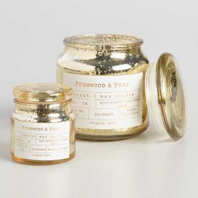 Prosecco Pear Apothecary Filled Jar Candle