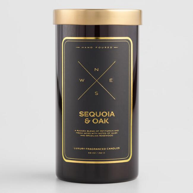 Sequoia and Oak Filled Jar Candle