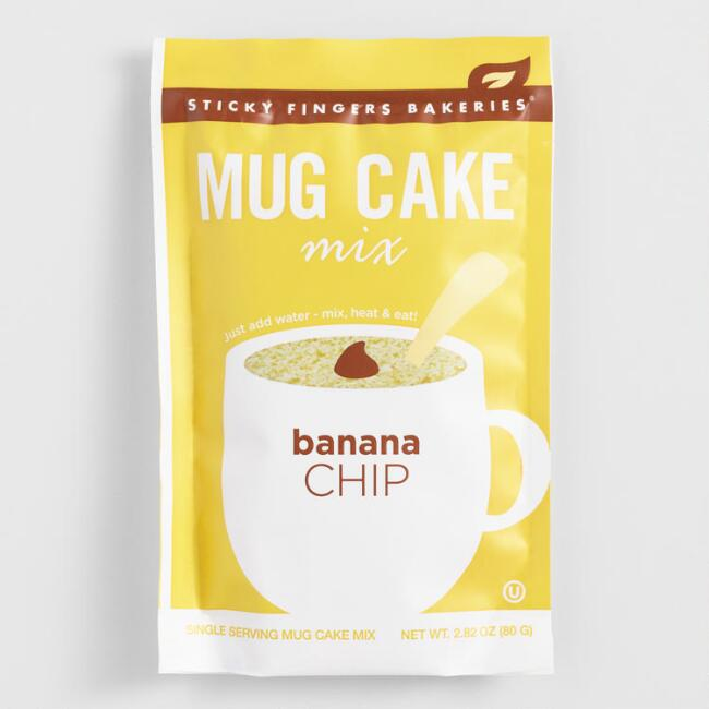 Sticky Fingers Banana Chip Mug Cake Mix Set Of 4