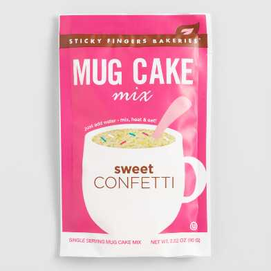Sticky Fingers Sweet Confetti Mug Cake Mix Set Of 4