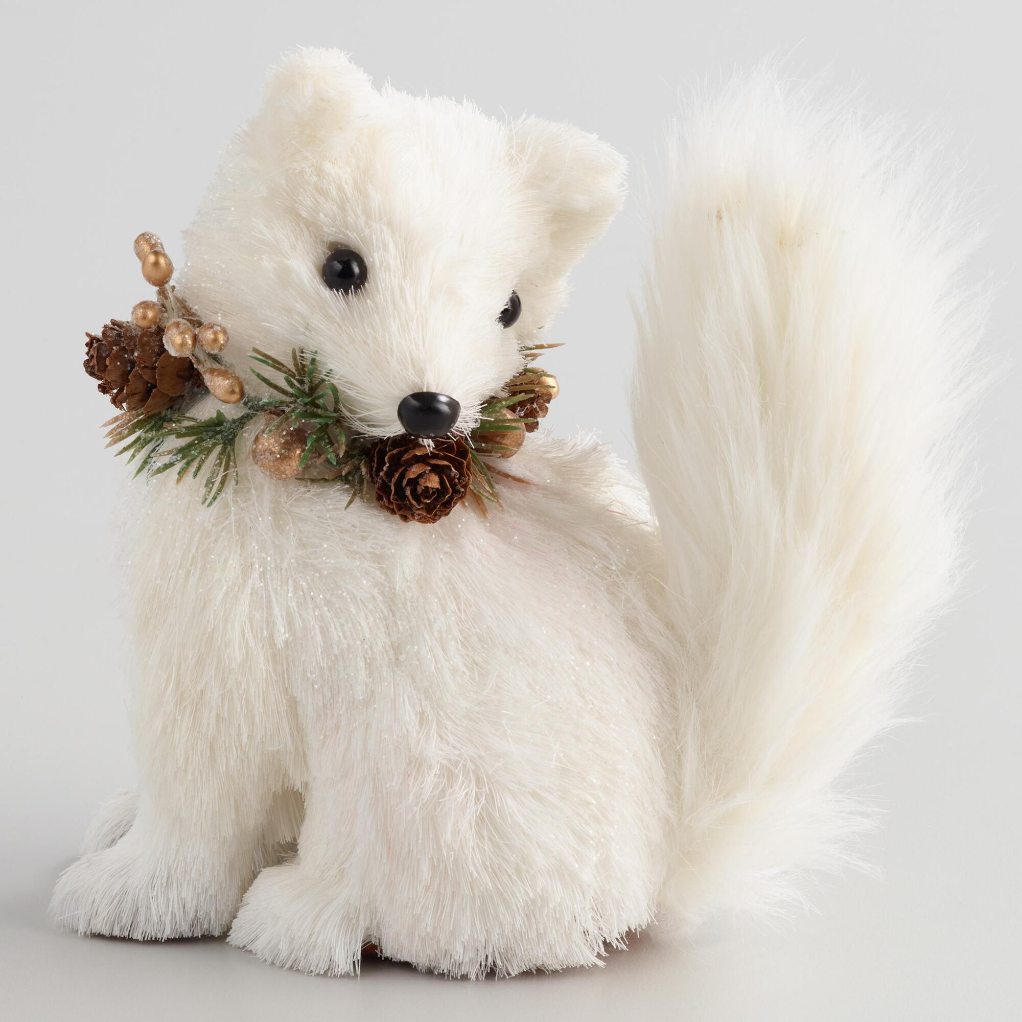 White Natural Fiber Fox by World Market