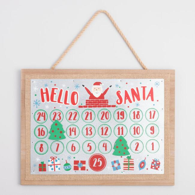 Christmas Countdown Calendar with Magnets