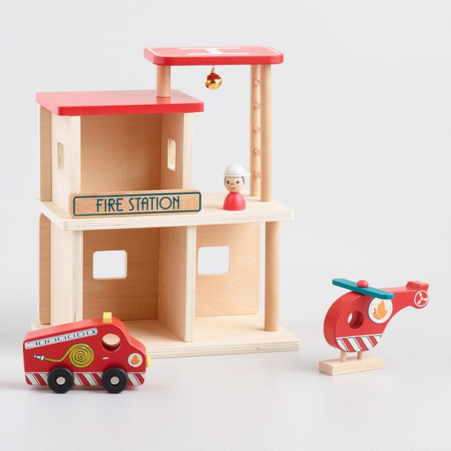 Egmont Wooden Fire Station Playset