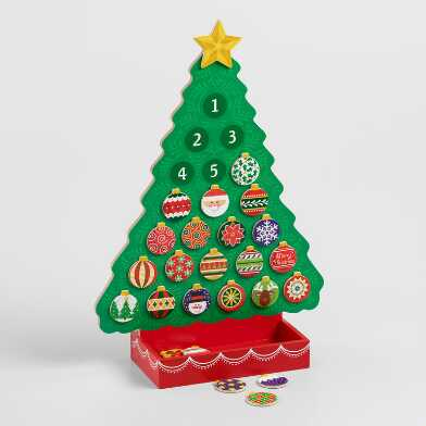 Melissa and Doug Magnetic Christmas Tree Advent Calendar