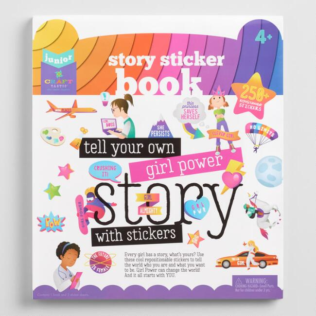 Tell Your Own Girl Power Story Sticker Book