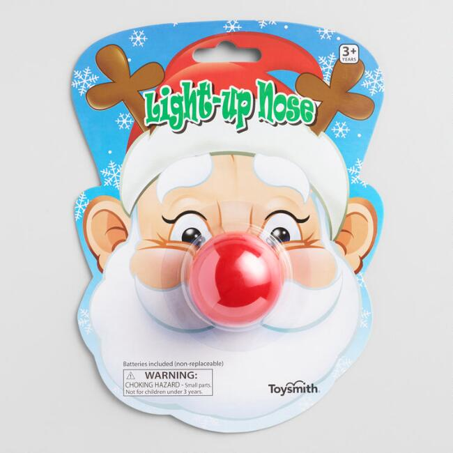 Toysmith Red Light Up Holiday Nose