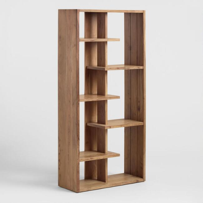 Natural Acacia Wood Fletcher Bookshelf