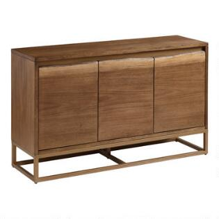 Live Edge Wood And Gold Metal Sloan Sideboard Quick Shop