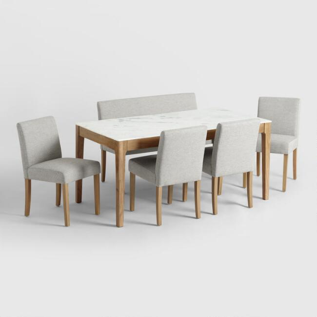Marble and Wood Fletcher Dining Collection