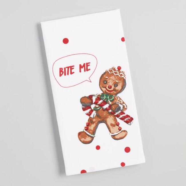 Bite Me Gingerbread Kitchen Towel