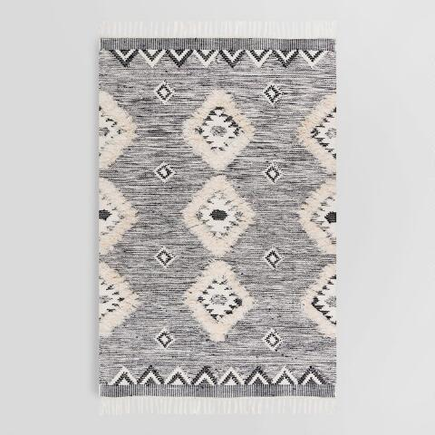 Charcoal Gray Moroccan Fringe Sahara Area Rug Previous V2 V1