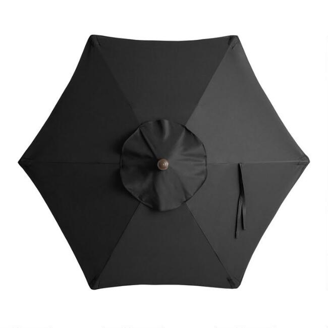 Black 5 Ft Replacement Umbrella Canopy