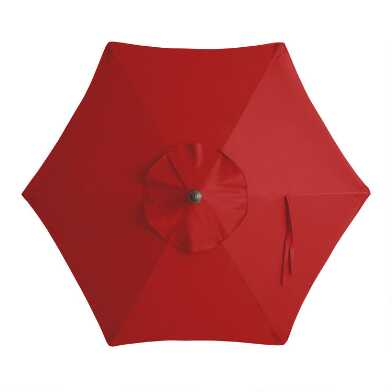 Red 5 Ft Replacement Umbrella Canopy