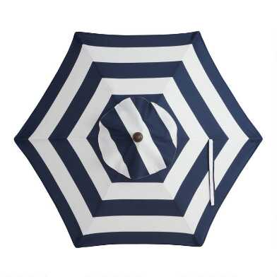Peacoat Blue Stripe 5 Ft Replacement Umbrella Canopy