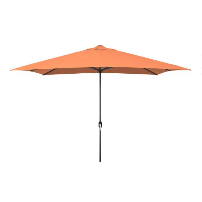 Orange Rectangular Patio Umbrella