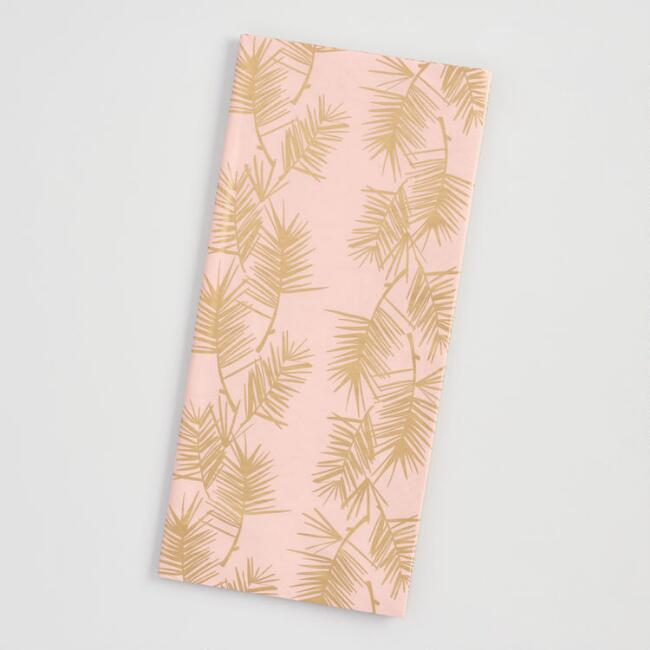 Pastel Pink And Gold Pine Needles Holiday Tissue Paper